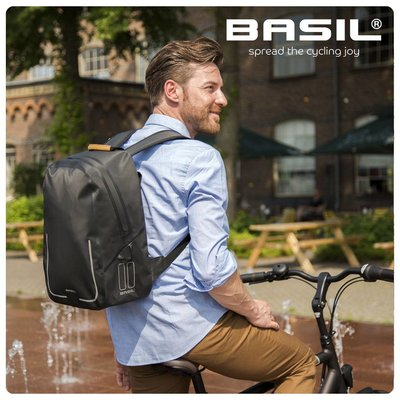 Basil Urban Dry Backpack - Bicycle Backpack - Black