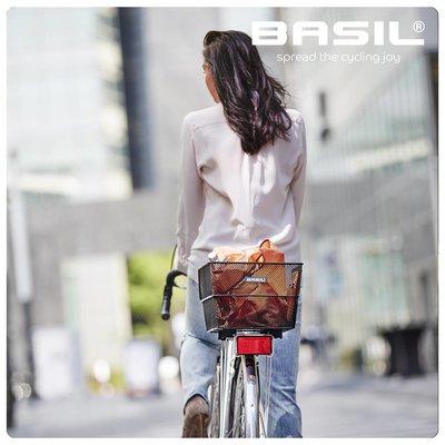 Basil Cento WSL - fietsmand - achterop - zwart