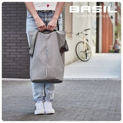 Basil City Shopper - Bicycle Shopperbag - Grijs