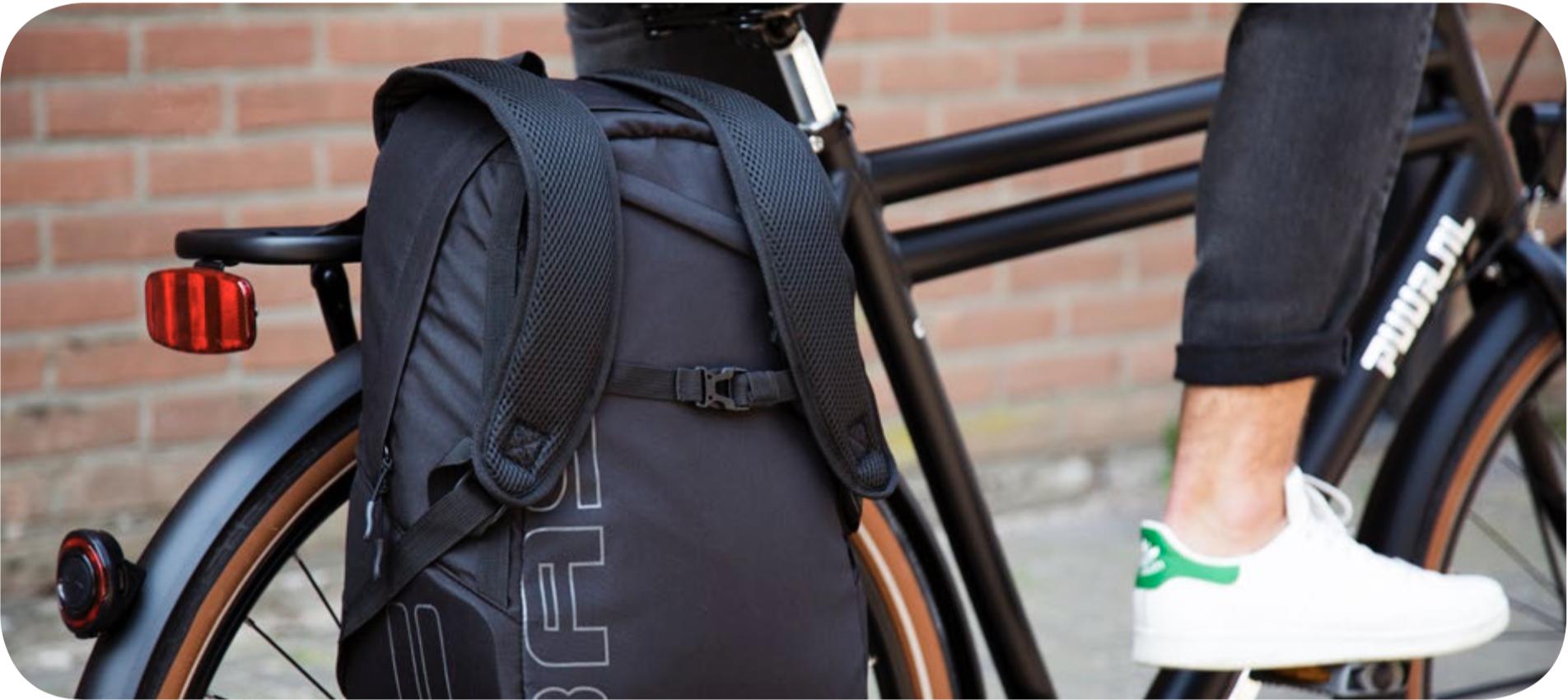 fietsrugzak - bagagedrager