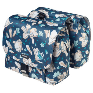 Basil Magnolia - S double bicycle bag - 25L - teal blue