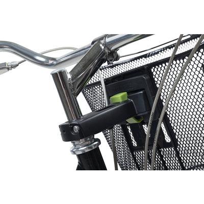 Basil Bremen + Basil Ahead-Stemholder KF - bicycle basket - black