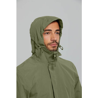 Basil Mosse bicycle rain parka - men - green