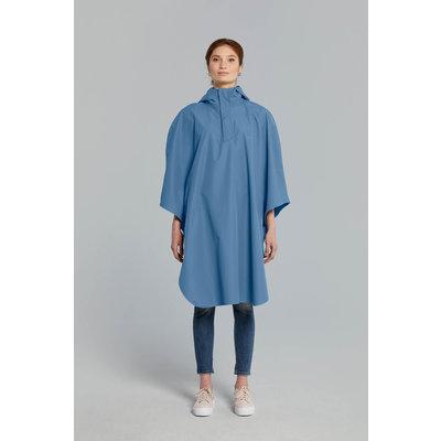 Basil Hoga bicycle rain poncho - unisex - blue