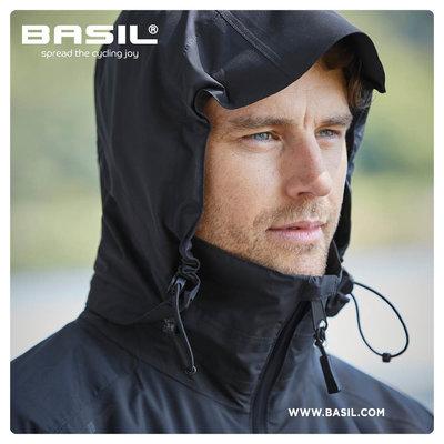 Basil Skane fietsregenjas - heren - zwart