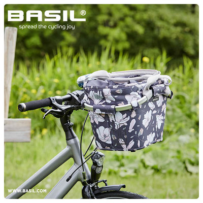 Basil Magnolia Carry All KF - bicycle basket - front - dark blue