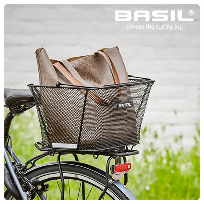 Basil Lesto MIK - bicycle basket - rear - black