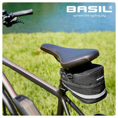 Basil Mada - zadeltas - 1 liter - zwart