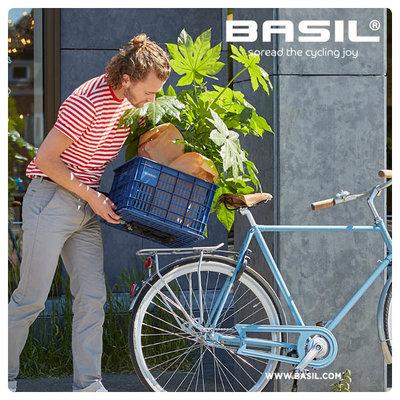 Basil Crate L - Fahrradkiste -  50 Liter - faded blossom