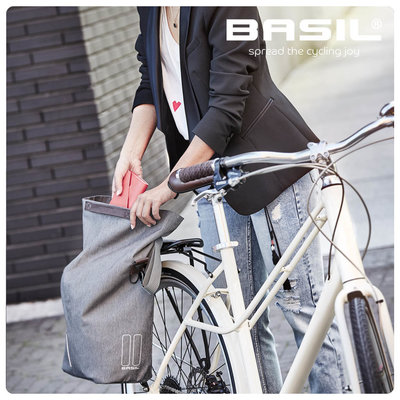 Basil City - bicycle shopper - 14-16 liter - black