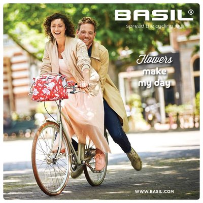 Basil Magnolia - City Lenkertasche - 7 Liter - blackberry