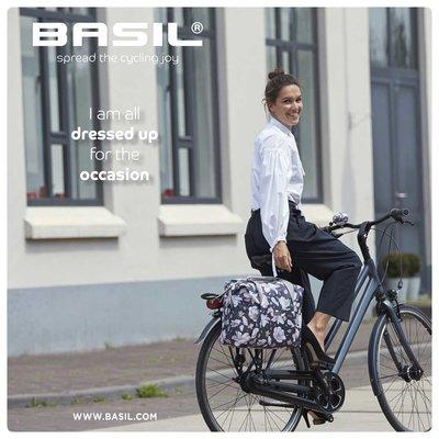 Basil Magnolia - single bicycle bag - 18 liter - teal blue