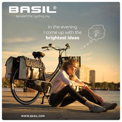 Basil Urban Load S - double bicycle bag - small -  25 liter - black