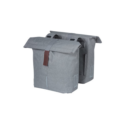 Basil City -  double bicycle bag - 28-32 liter - grey melee