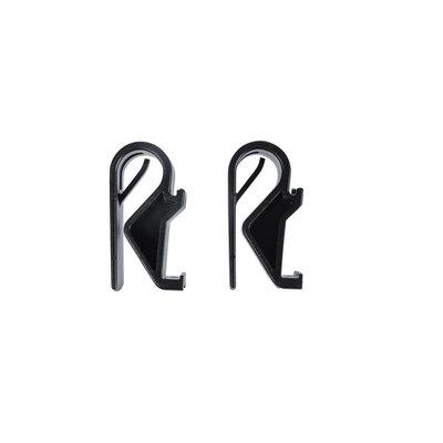Basil Hook-On system Sports -  set van 2 haken - Ø10-12 mm -zwart