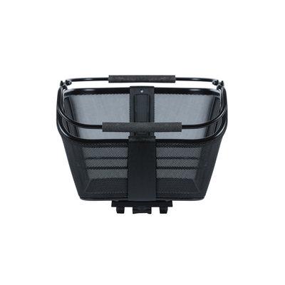 Basil Cento Tech Fiber Nordlicht MIK - bicycle basket - rear - solid black