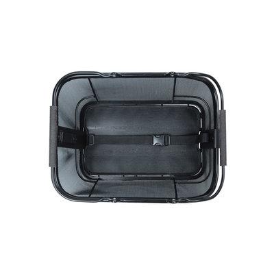 Basil Cento Tech Fiber Nordlicht MIK - Fahrradkorb - hinten - solid schwarz
