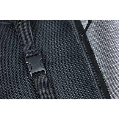 Basil Cento Tech Fiber Nordlicht MIK - fietsmand - achterop - solid zwart