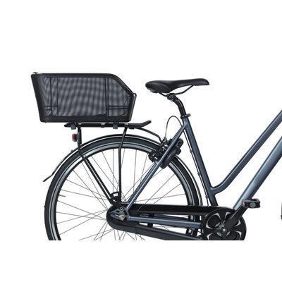 Basil Cento Tech Fiber WSL - bicycle basket - rear - solid black