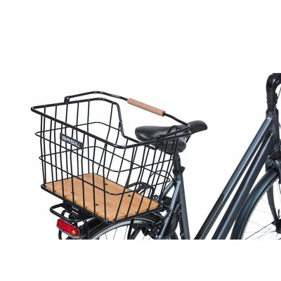 Basil Nordland - Fahrradkorb MIK - vorne und/oder hinten - schwarz/natur braun