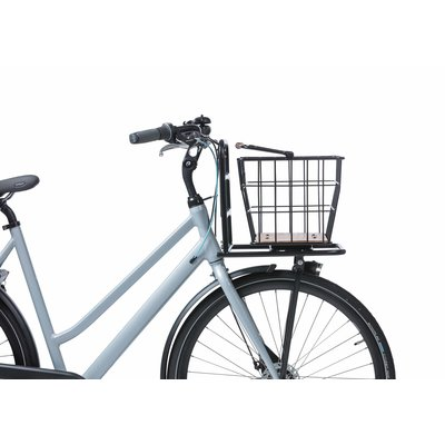 Basil Nordland - fietsmand MIK - voorop en/of achterop - zwart/natural bruin