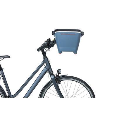 Basil Buddy KF - dog bicycle basket - front - faded denim