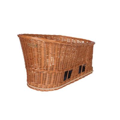 Basil Pasja - dog bicycle basket MIK -  medium - rear -natural