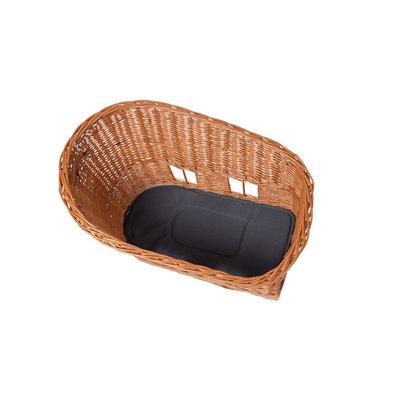 Basil Pasja - dog bicycle basket MIK -  medium - 45 cm - rear -natural