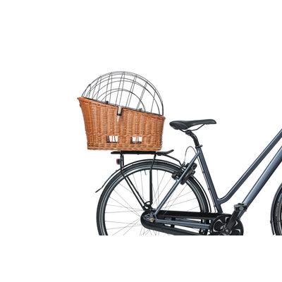 Basil Pasja - Hundefahrradkorb MIK - Medium -  hinter -natural