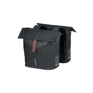 City - double bicycle bag - zwart