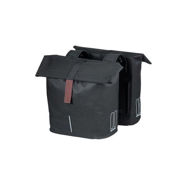 City - double bicycle bag - zwart