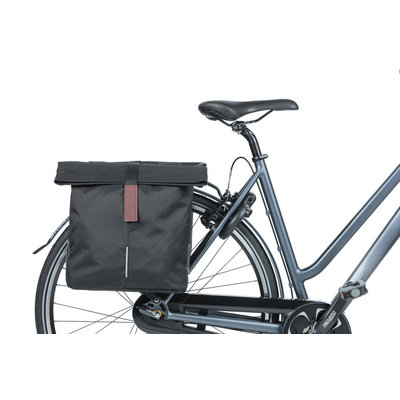 Basil City - double bicycle bag - 28-32 liter - black