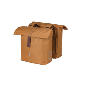 Basil City - double Bicycle bag - 28-32 liter - camel brown