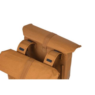 Basil City - Fahrrad Doppeltasche -  28-32 Liter -camel braun