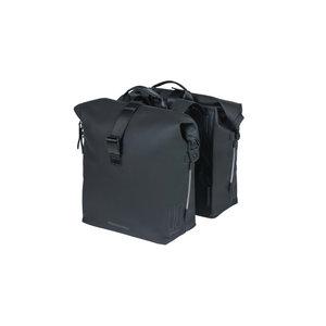 SoHo - dubbele fietstas - zwart