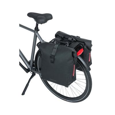 Basil SoHo - Fahrrad Doppeltasche Nordlicht - 41 Liter - night schwarz
