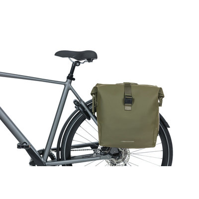 Basil SoHo - dubbele fietstas Nordlicht  - 41 liter - mosgroen
