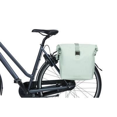 Basil SoHo - dubbele fietstas Nordlicht - 41 liter - pastel groen