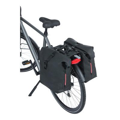 Basil SoHo Nordlicht MIK - bicycle double bag -  41 liter - night black