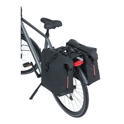 Basil SoHo Nordlicht MIK - dubbele fietstas - 41 liter - night zwart