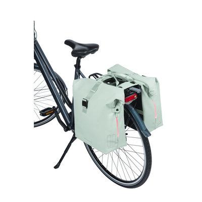 Basil SoHo Nordlicht MIK - bicycle double bag -  - 41 liter - pastel green