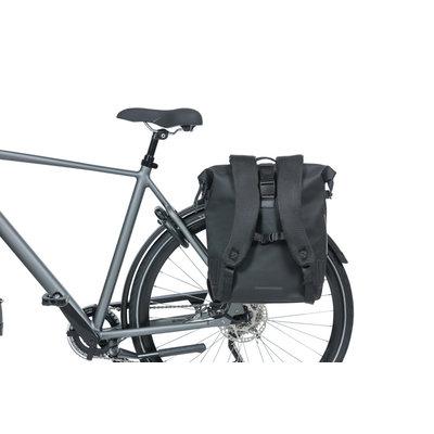 Basil SoHo - Fahrradrucksack Nordlicht - 17 Liter - night schwarz