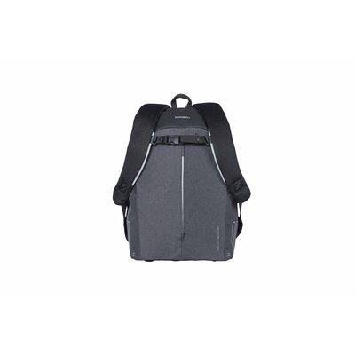 Basil B-Safe Commuter - fietsrugzak voor 13inch laptop Nordlicht - 13 liter - graphite black