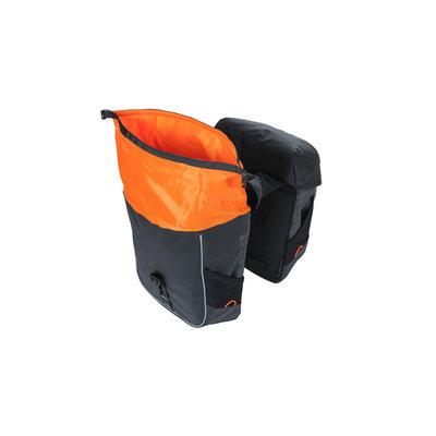 Basil Miles Tarpaulin - Fahrrad Doppelt - 34 Liter - schwarz/orange