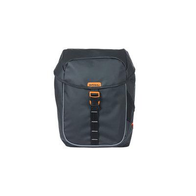 Basil Miles Tarpaulin - Doppeltasche MIK - 34 Liter - schwarz/orange