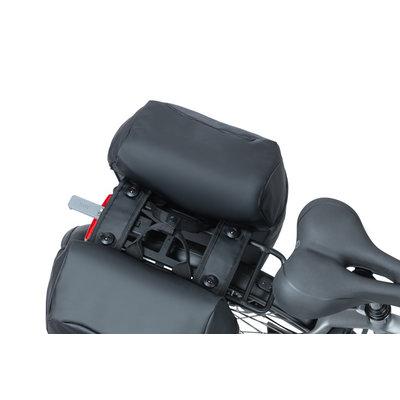 Basil Miles Tarpaulin - dubbele fietstas MIK - 34 liter - zwart/oranje