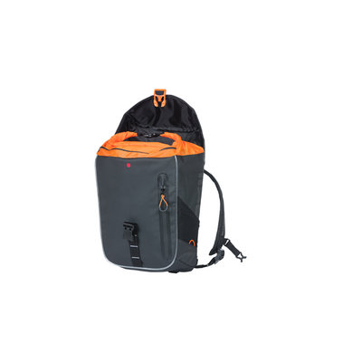 Basil Miles Tarpaulin - fietsrugzak Nordlicht - 17 liter - zwart/ oranje