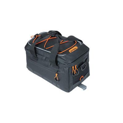 Basil Miles Tarpaulin - bagagedragertas MIK - 7 liter - zwart/oranje