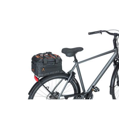 Basil Miles Tarpaulin - trunkbag MIK - 7 liter - black/orange