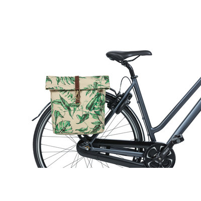 Basil Ever-Green - double bicycle bag - 28-32 liter - sandshell beige